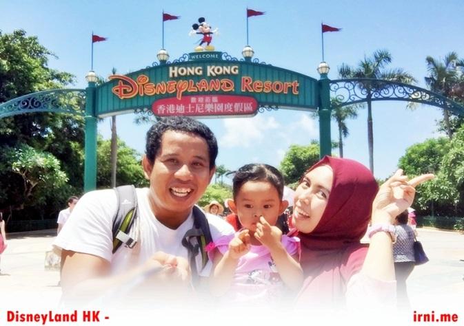 Gerbang menuju Disneyland Hongkong