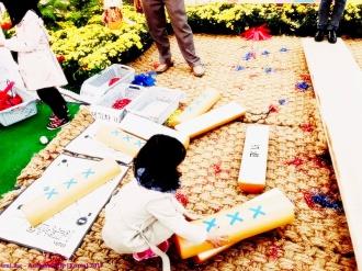 Permainan tradisional Korea di Festival bunga musim semi Busan