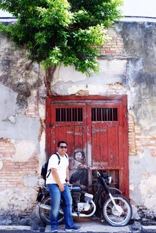 Penang Street Art : Old Motorcycle